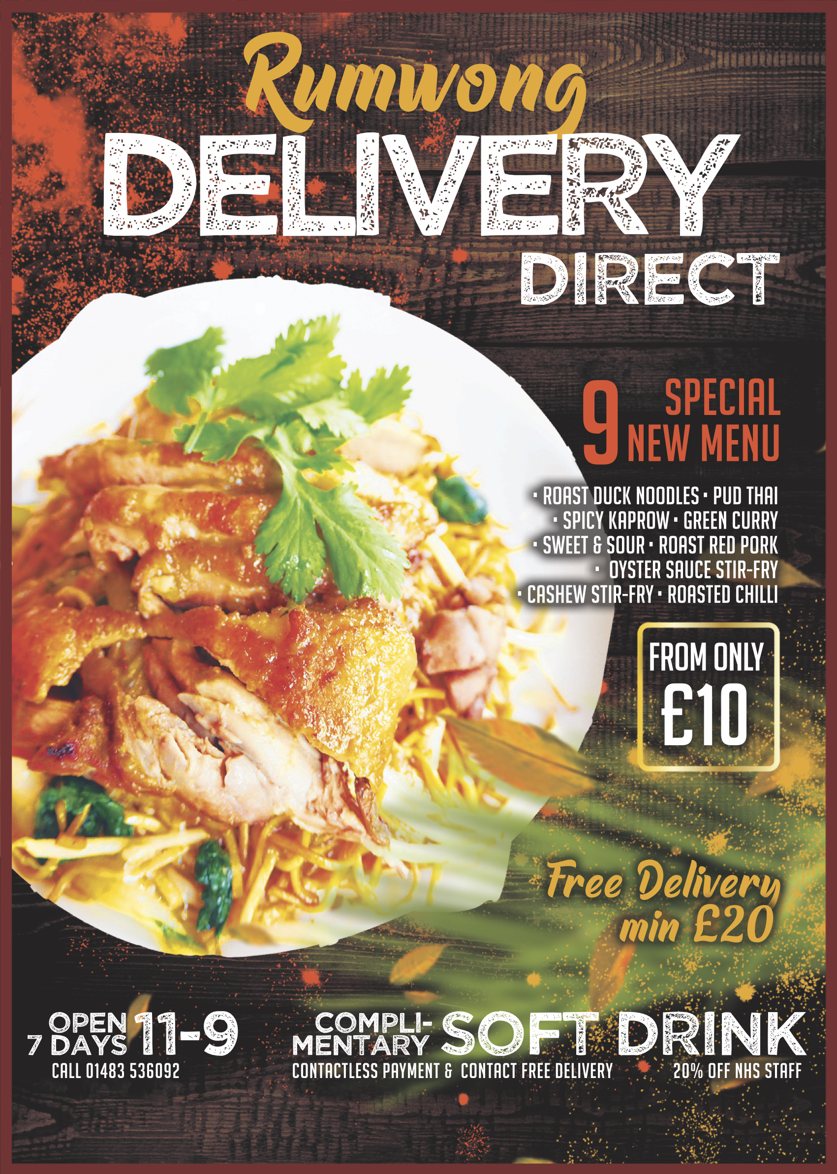new Delivery Direct Takeaway Menu